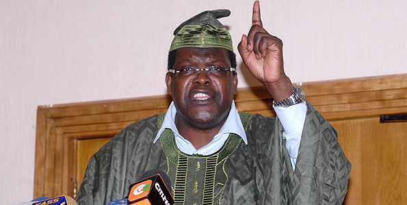 Miguna Miguna during the launch of his book titled Peeling Back the Mask at the Intercontinental Hotel, Nairobi on July 14, 2012. PHOTO