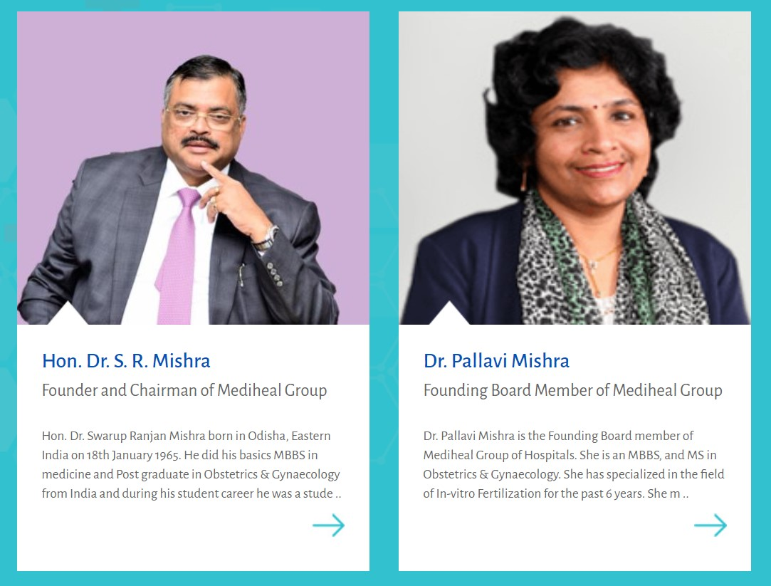 CAPTION: Founder and Chairman of Mediheal Group Dr. S. R. Mishra and the hospitals Founding Board Member Dr. Pallavi Mishra: A nearly-depressed nurse from their Nairobi Eastleigh Branch has cried out that practitioners at the facility have gone unpaid for over two months