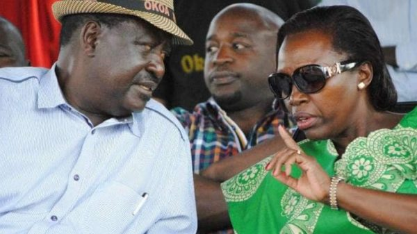 CAPTION: ODM Party Leader Raila Odinga and former long-time Gichugu Member of Parliament Martha Karua